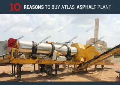 Reasons to buy Atlas Asphalt drum mix plant