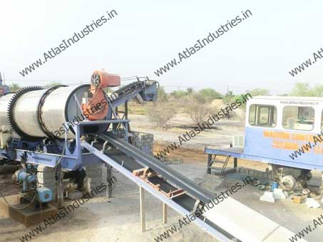 dryer of mobile asphalt plant