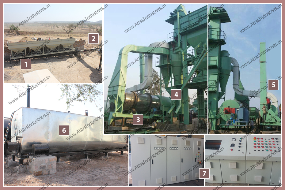 Asphalt batch plant components