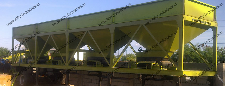 cold feed bins asphalt mix plant