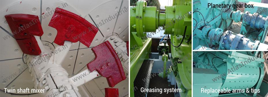 twin shaft mixer batching plant