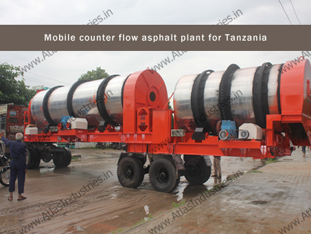 portable counter flow asphalt plant