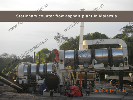 counter flow asphalt mixer in Malaysia