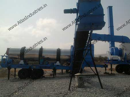Mobile asphalt mixing plant in Oman