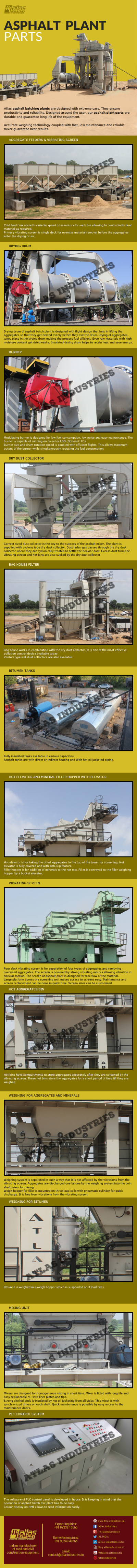Asphalt plant parts – Batch mix plant