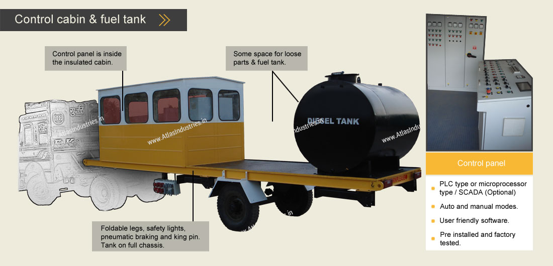 mobile control cabin asphalt mixer