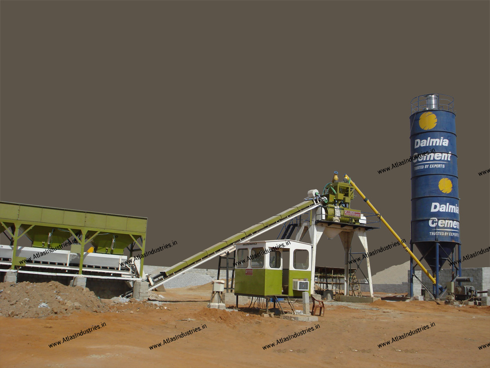 Modern Cement Plant : Ready mix concrete rmc structure