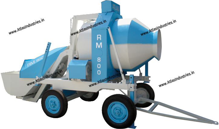 non tilting type concrete mixer