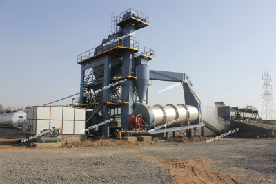 Asphalt batch mix plant operation