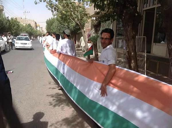 Afghans carry Indian tricolor say thanks for salma dam construction