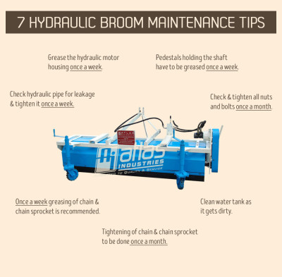 7 amazing hydraulic broom maintenance tips. [Infographic]