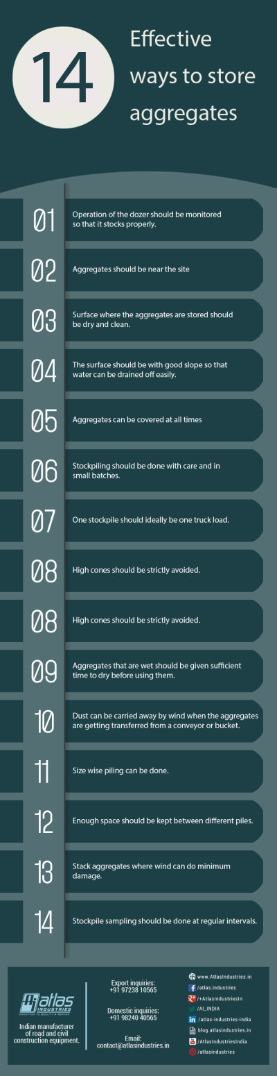 14 effective ways to store aggregates [Infographic].