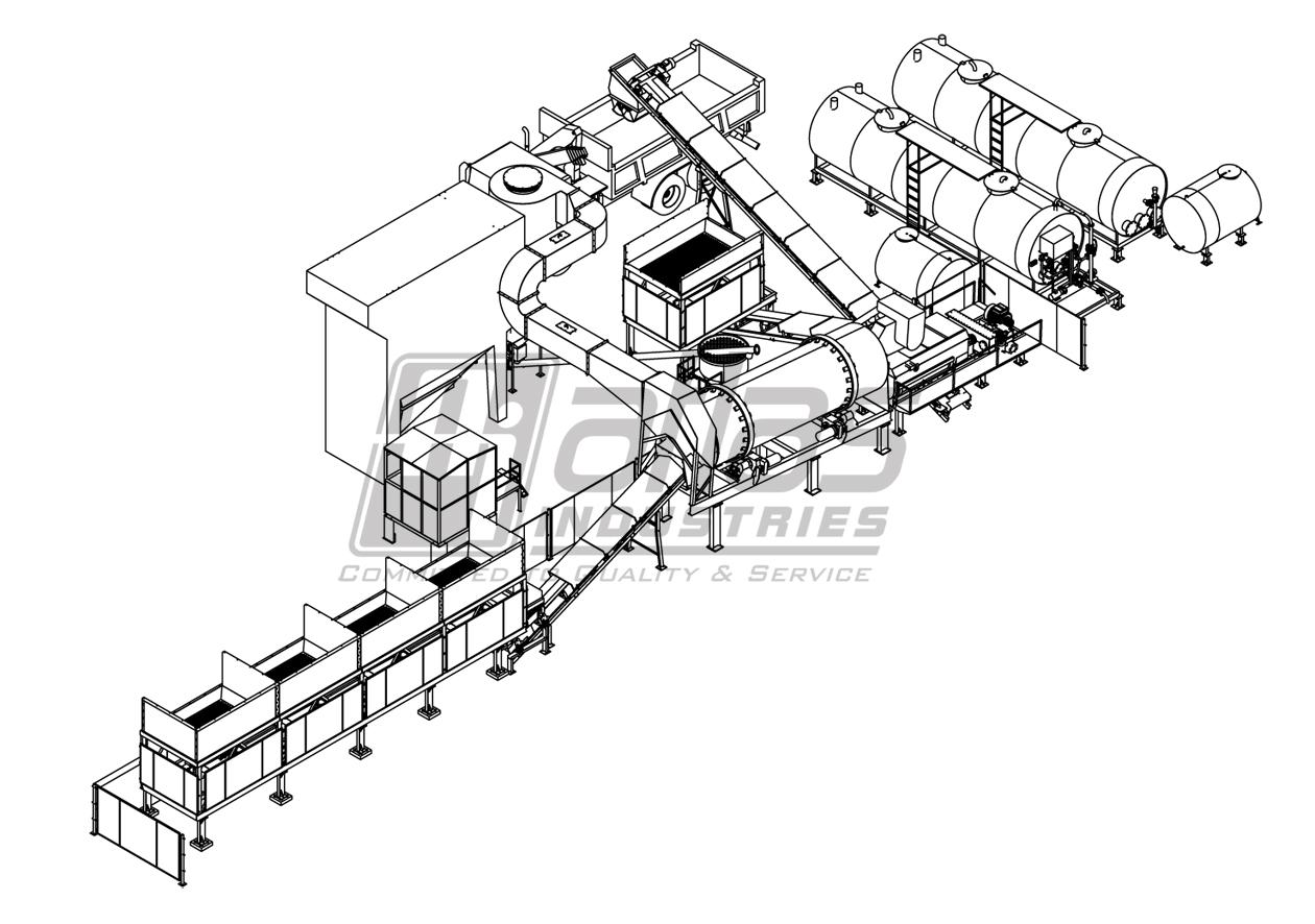 counter flow asphalt mixer layout Spain