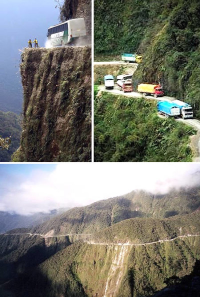 Some of the most dangerous roads of the world