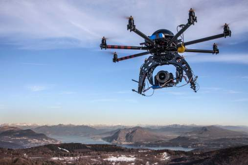 now drones are monitoring construction workers