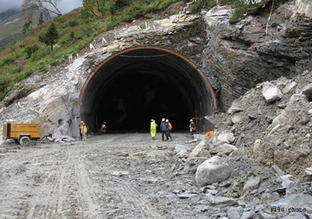 three trapped in under construction himachal tunnel collapse