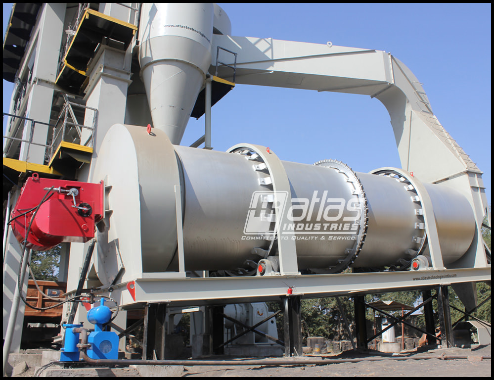 Drying drum of asphalt batch plant