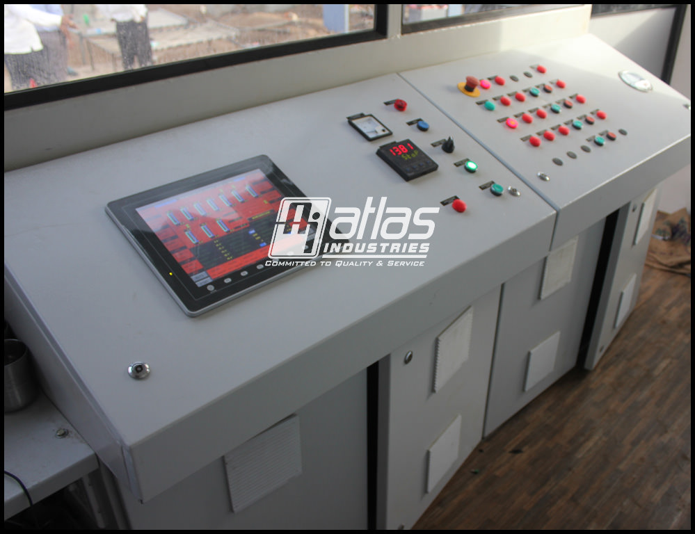 control of all the operations of the plant by a control panel