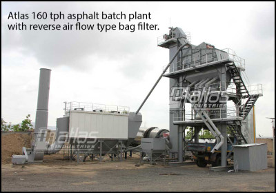 Bag filter for asphalt plant