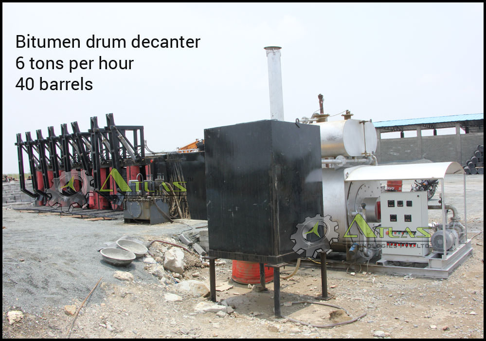 bitumen drum melting unit