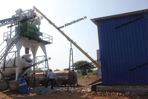 Stationary concrete batch mix plant manufacturer