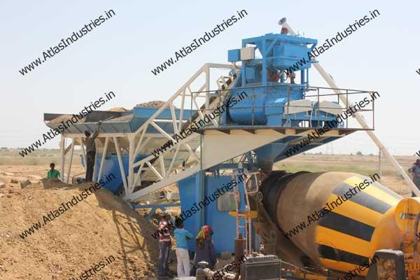 mobile concrete mix plant