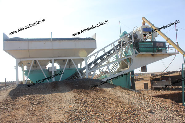 portable concrete batch mixer