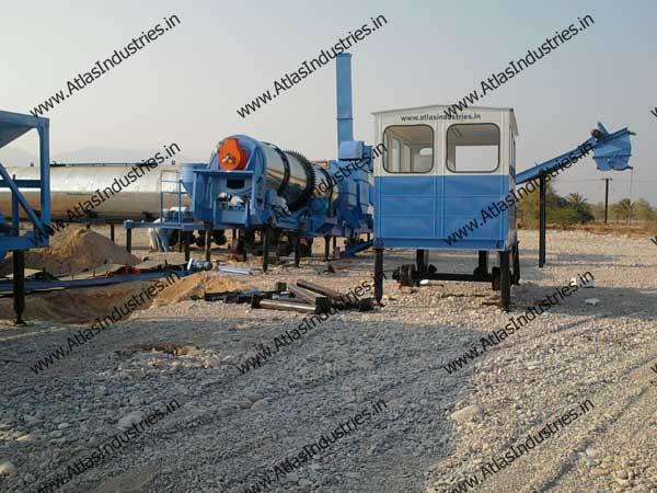 continuous asphalt mix plant India