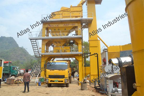 80 tph asphalt batch plant installed in Myanmar.