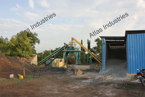 30 m3/hr. stationary concrete plant working in Aurangabad