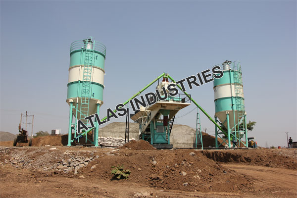 Mobile concrete plant with 60 tons cement silo cost