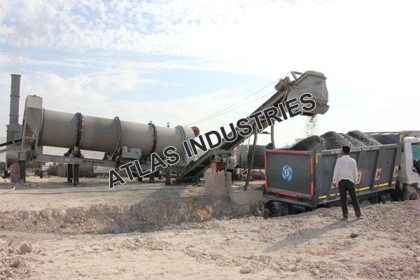 Counter flow single drum asphalt plant