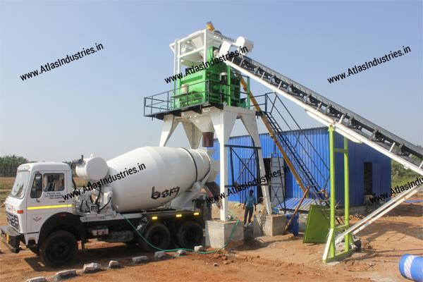 Stationary concrete batch mix plant supplier India