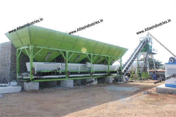 Stationary concrete batch mix plant India