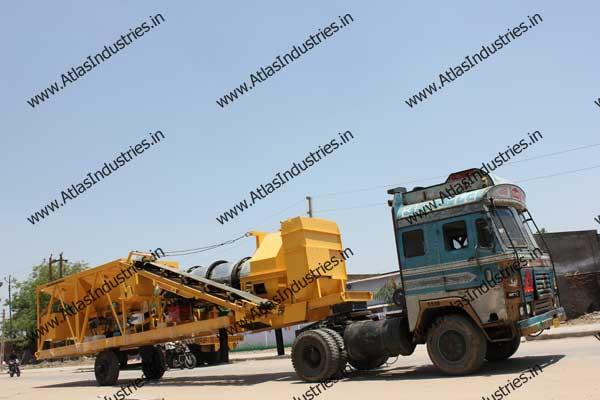 portable drum asphalt plant India