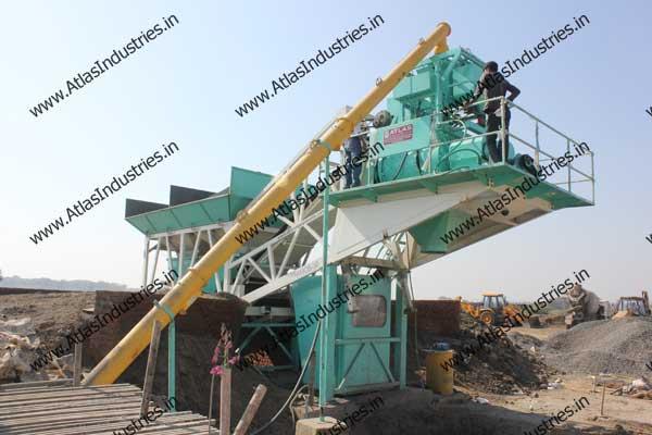 portable concrete batch plant exporter India