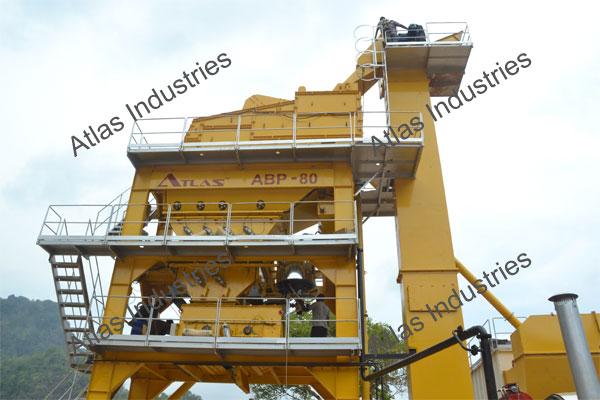 Exporter 80 tph asphalt batch plant in Myanmar