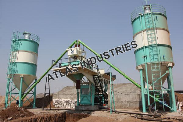 Mobile concrete plant with 60 tons cement silo manufacturer
