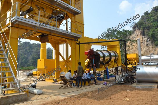 Manufacturer 80 tph asphalt batch plant in Myanmar