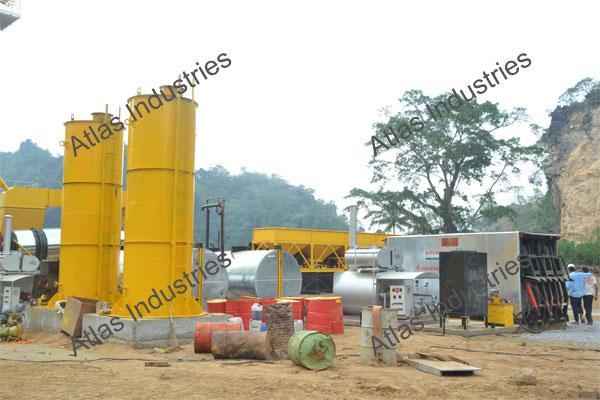 80 tph asphalt batch plant manufacturer and  exporter Myanmar