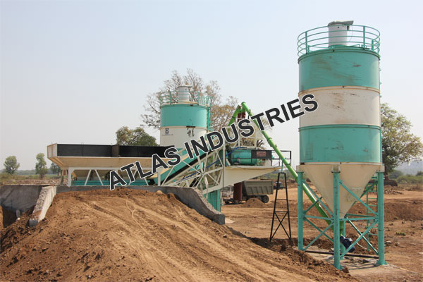Mobile concrete plant with 60 tons cement silo buy