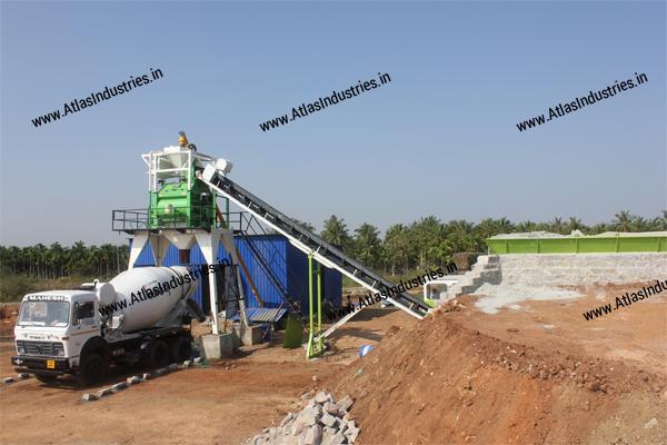 Stationary concrete plant exporter
