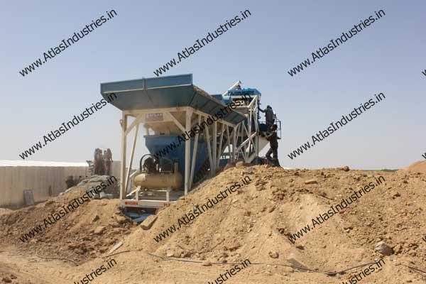 mobile concrete batch mixer