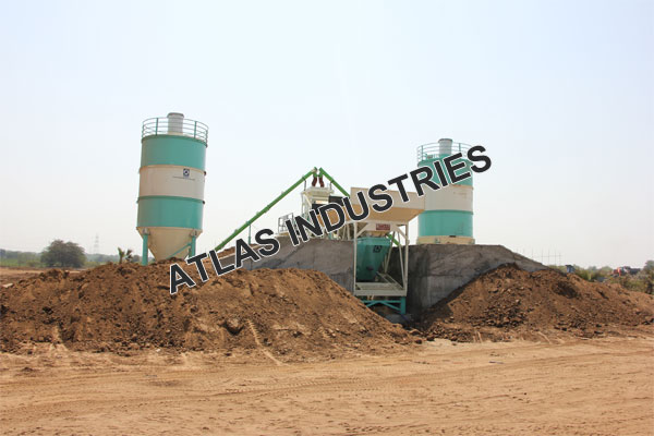 Mobile concrete plant with 60 tons cement silo manufacturer and exporter