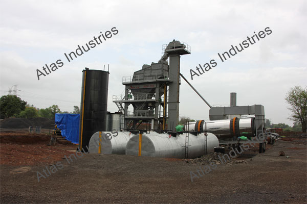 Asphalt batch mix plant 160 tph installed in Kalyan, India