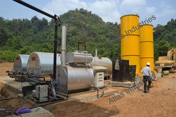 Working 80 tph asphalt batch plant in Myanmar