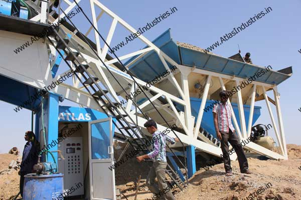 mobile readymix concrete mixing plant