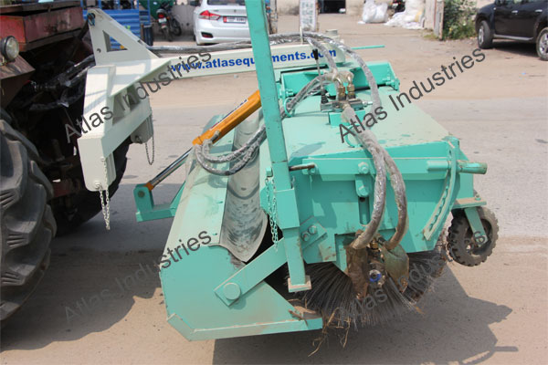 Hydraulic road sweeper working in Nepal