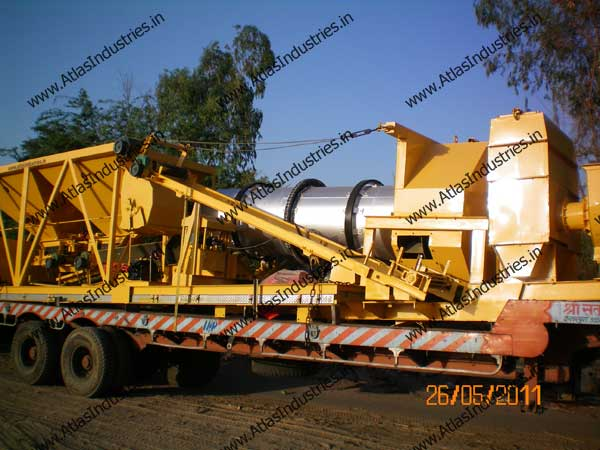 Mobile Asphalt Drum Mix Plant Installed In India By Atlas