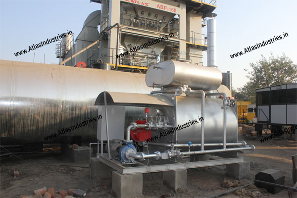 Hot oil heater for asphalt plant